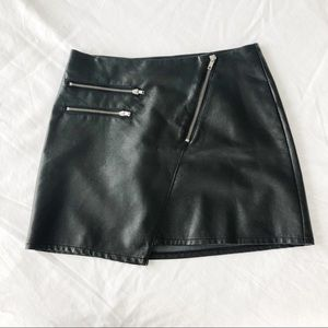 H&M Leather Mini Skirt